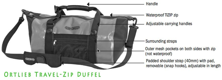 Ortlieb Waterproof Travel-Zip Duffle