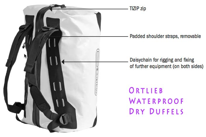 Ortlieb Waterproof Dry Duffel Features