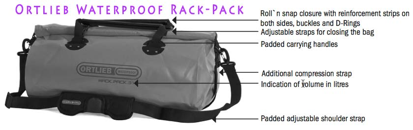 Ortlieb Waterproof Rack-Pack Duffel Features